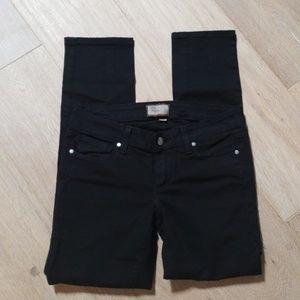 Paige Denim black jeans ankle crop 26